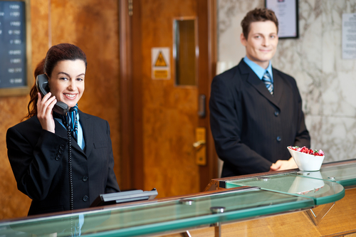 A Receptionist Is An Employee Taking Office Or Administrative Support Position The Work Usually Performed In Waiting Area Such As Lobby Front