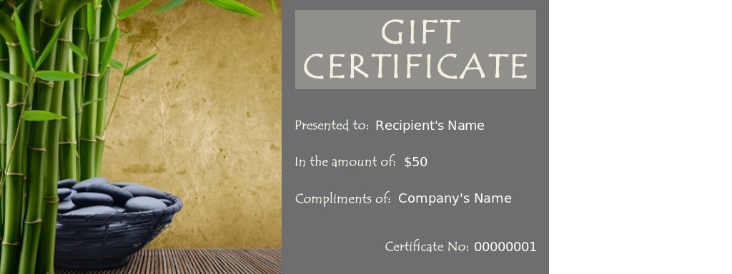 Spa certificate template simple spa gift certificate template spa special occasion spa gift voucher yadclub Images