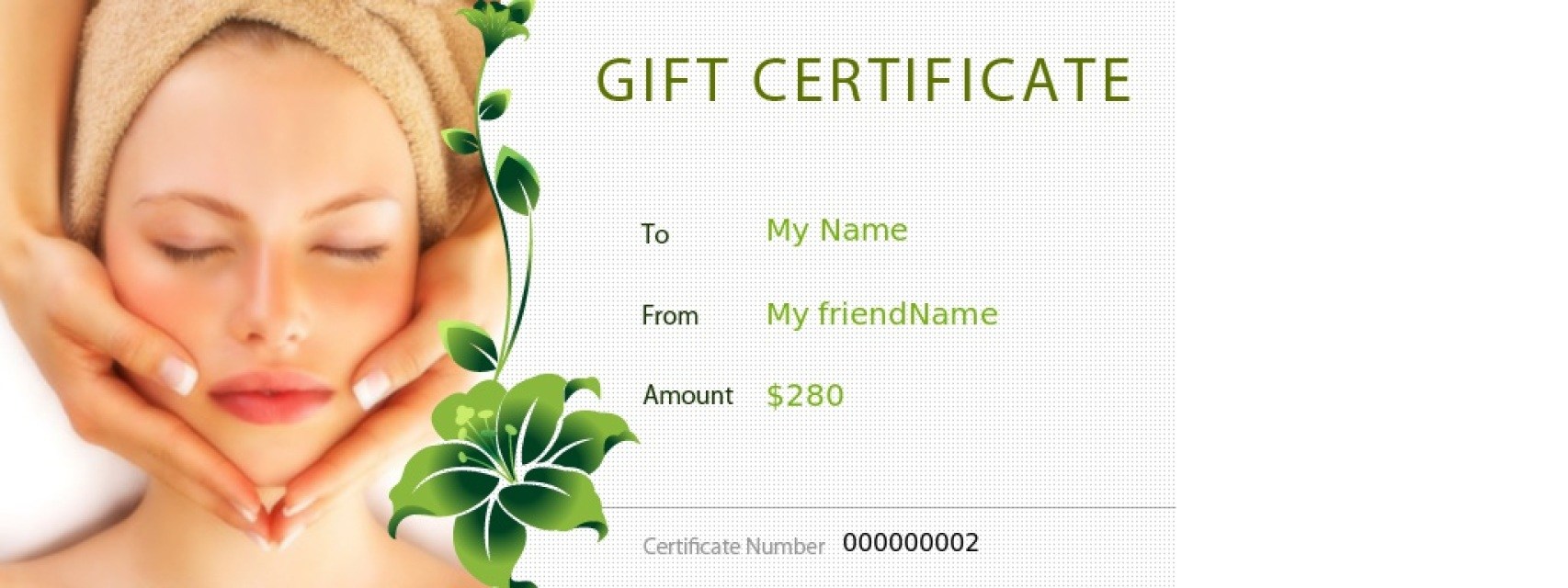 Lilium zen spa santorini spa gifts and vouchers for Free beauty gift voucher template